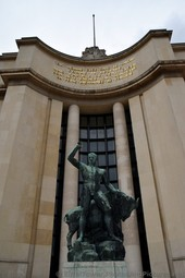 Hercules and Bull Bronze Statue in front of Palais de Chaillot Paris.jpg