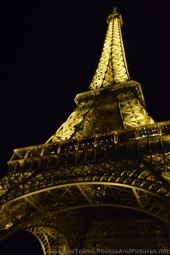 Eiffel Tower at Night seen from the Base.jpg