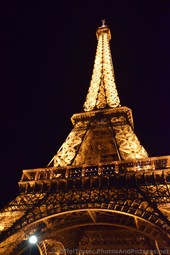 Eiffel Tower at Night with a Orange Yellow Glow.jpg