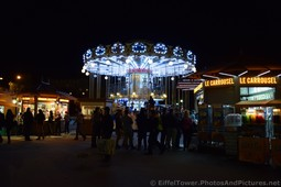 Eiffel Tower Carousel Merry Go Around at Night.jpg