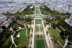 Champ de Mars wide-angle view from Eiffel Tower.jpg