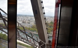 Seine River seen from inside the Eiffel Tower Elevator.jpg