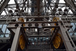 Twin Elevator Lift Wheels above Level 2 of Eiffel Tower.jpg