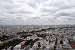 North West Paris and the Seine River seen from Eiffel Tower.jpg