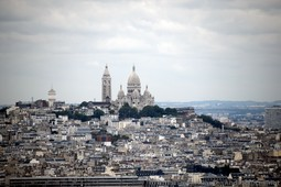 Sacred Heart Basilica of Montmartre seen from the Eiffel Tower.jpg