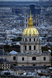 Gold Dome of L'Hotel des Invalides & Saint-Sulpice Church seen from Eiffel Tower.jpg
