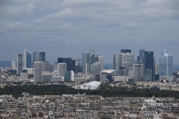 High-rise Buildings of La Defense Courbevoie France seen from Eiffel Tower.jpg