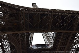Steel Beams of the Eiffel Tower seen from underneath.jpg